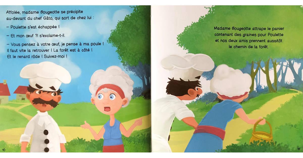 Livre Poulette et le renard pages 10 et 11