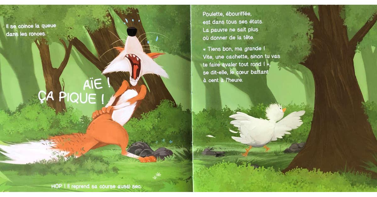 Livre Poulette et le renard pages 24 et 25