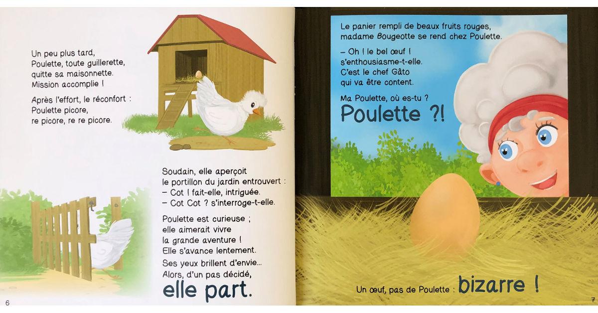 Livre Poulette et le renard pages 6 et 7