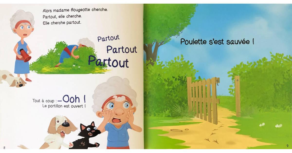 Livre Poulette et le renard pages 8 et 9